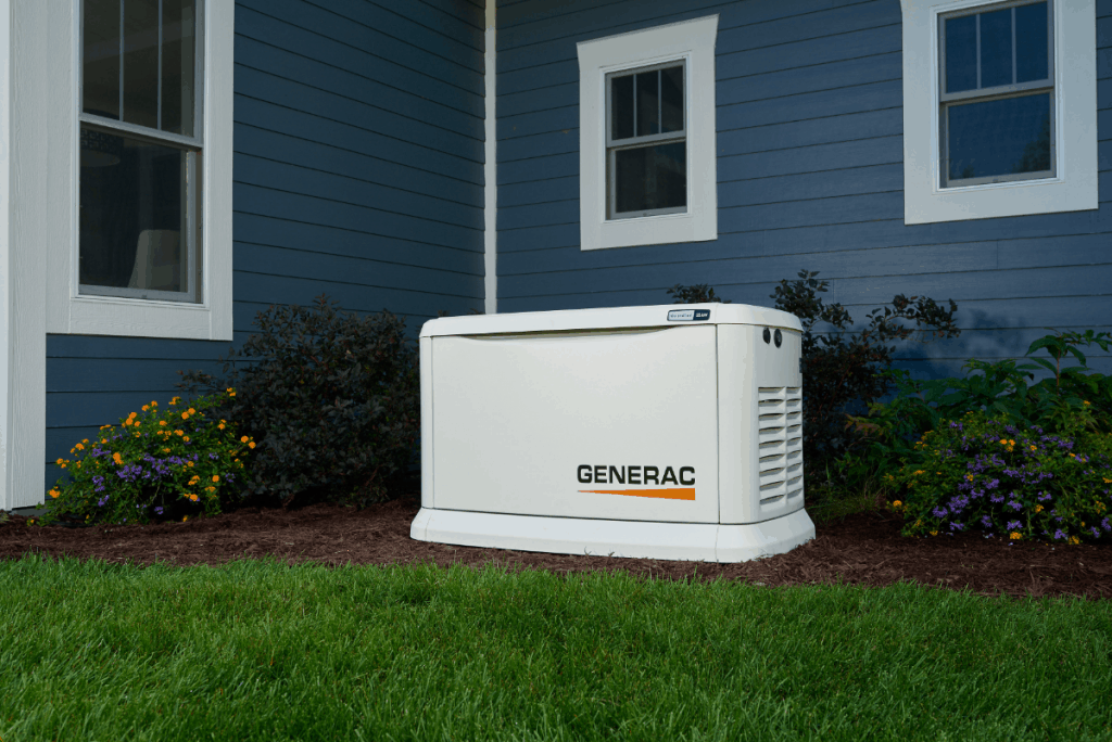 Guardian generator in front of home pic